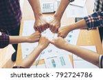 close up hand of business...   Shutterstock . vector #792724786