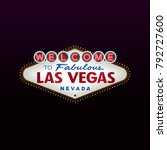 welcome to fabulous las vegas... | Shutterstock .eps vector #792727600