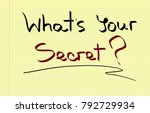 what's your secret  | Shutterstock . vector #792729934