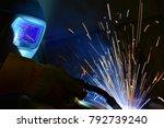 welder  craftsman  erecting... | Shutterstock . vector #792739240