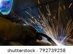 welder  craftsman  erecting... | Shutterstock . vector #792739258