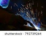 welder  craftsman  erecting... | Shutterstock . vector #792739264