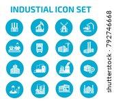 industry icon set design | Shutterstock .eps vector #792746668