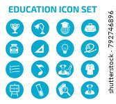 education icon set design | Shutterstock .eps vector #792746896