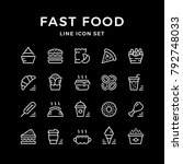 set line icons of fast food | Shutterstock .eps vector #792748033