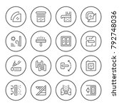 set round line icons of window | Shutterstock .eps vector #792748036