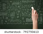 a hand drawing lines  pie...   Shutterstock . vector #792750613