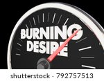 burning desire speedometer... | Shutterstock . vector #792757513