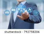 labor law lawyer legal business ... | Shutterstock . vector #792758206