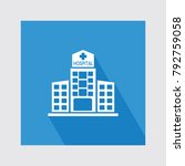 hospital flat icon with long... | Shutterstock .eps vector #792759058