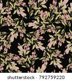 seamless pattern with garland... | Shutterstock .eps vector #792759220