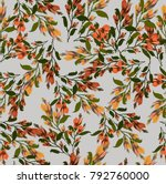 seamless pattern with garland... | Shutterstock .eps vector #792760000