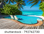 private oceanfront pool with... | Shutterstock . vector #792762730