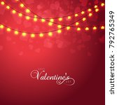 vector illustration.valentine's ... | Shutterstock .eps vector #792765349
