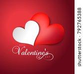 vector illustration.valentine's ... | Shutterstock .eps vector #792765388