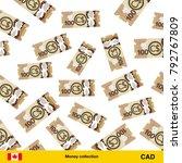 flying canadian dollar... | Shutterstock .eps vector #792767809