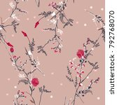 trendy  floral pattern in the... | Shutterstock .eps vector #792768070