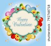 yellow flower valentine... | Shutterstock .eps vector #792768718
