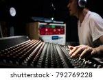 asian male dj  sound engineer ... | Shutterstock . vector #792769228