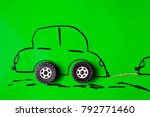 car drawn on paper | Shutterstock . vector #792771460