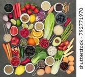 diet health food and herbal... | Shutterstock . vector #792771970