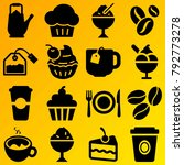 cafe vector icon set consisting ... | Shutterstock .eps vector #792773278