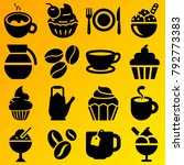 cafe vector icon set consisting ... | Shutterstock .eps vector #792773383