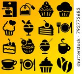 cafe vector icon set consisting ... | Shutterstock .eps vector #792773683