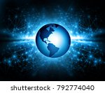 best internet concept of global ... | Shutterstock . vector #792774040
