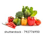 portrait of various paprika... | Shutterstock . vector #792776950