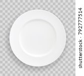 Vector Stock Table White Plate...
