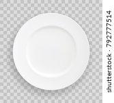 vector stock table white plate  ... | Shutterstock .eps vector #792777514