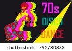 70s style disco dance poster... | Shutterstock .eps vector #792780883