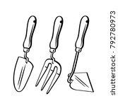 garden tools. set | Shutterstock .eps vector #792780973