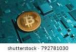bitcoin  cryptocurrency ... | Shutterstock . vector #792781030