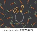 background image of orange... | Shutterstock .eps vector #792783424