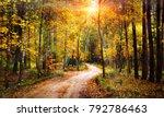 autumn forest landscape on... | Shutterstock . vector #792786463