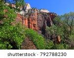 landscape of zion national park   Shutterstock . vector #792788230