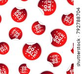 sale up to 60 percent sticker... | Shutterstock .eps vector #792788704