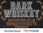 vintage font alphabet... | Shutterstock .eps vector #792790888