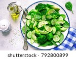 detox spring salad from green... | Shutterstock . vector #792800899