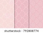geometric backgrounds. pale... | Shutterstock .eps vector #792808774