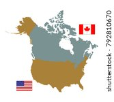 vector illustration of canada... | Shutterstock .eps vector #792810670