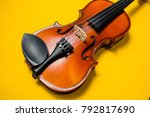 violin with bow isolated on a... | Shutterstock . vector #792817690