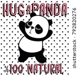 cute panda  sweet character for ... | Shutterstock .eps vector #792820276