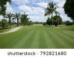golf course element. golf... | Shutterstock . vector #792821680