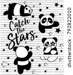 cute panda  sweet character for ... | Shutterstock .eps vector #792822010