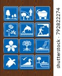 set icons of protected area ... | Shutterstock .eps vector #792822274