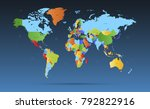 color world map vector | Shutterstock .eps vector #792822916