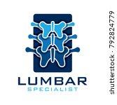 spine lumbar logo | Shutterstock .eps vector #792824779